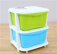 百露 新品多彩收纳柜 宝宝衣柜 衣物玩具塑料整理箱 抽屉柜收纳箱2层 .
