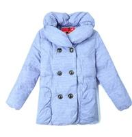2013冬款童装 女童羽绒服 中大童女款字母印花外套
