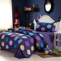 KEMOON 可慕家纺 精纺高密全棉三件套单人三件套 单人床单被罩 纯棉 1.2米床 150*200cm