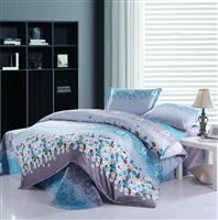 100%斜纹全棉4件套,1.5 1.8床适用。床单,被套,枕套