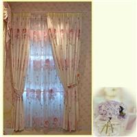 橙果布艺 粉红色玫瑰田园风格