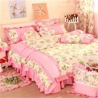 花香-粉 多件套100%全棉床上用品4件套