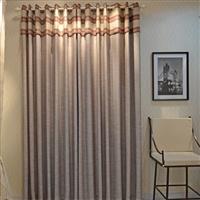 橙果布艺全遮光布窗帘 地中海条纹窗纱成品定制高档客厅