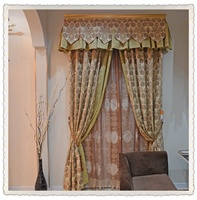 橙果布艺高档绣花窗帘欧式水溶简欧奢华客厅卧室精品定制窗帘纱
